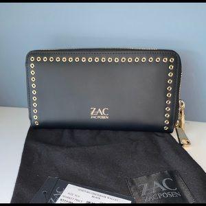 ZAC POSEN WALLET NEW Black w gold tone hardware.